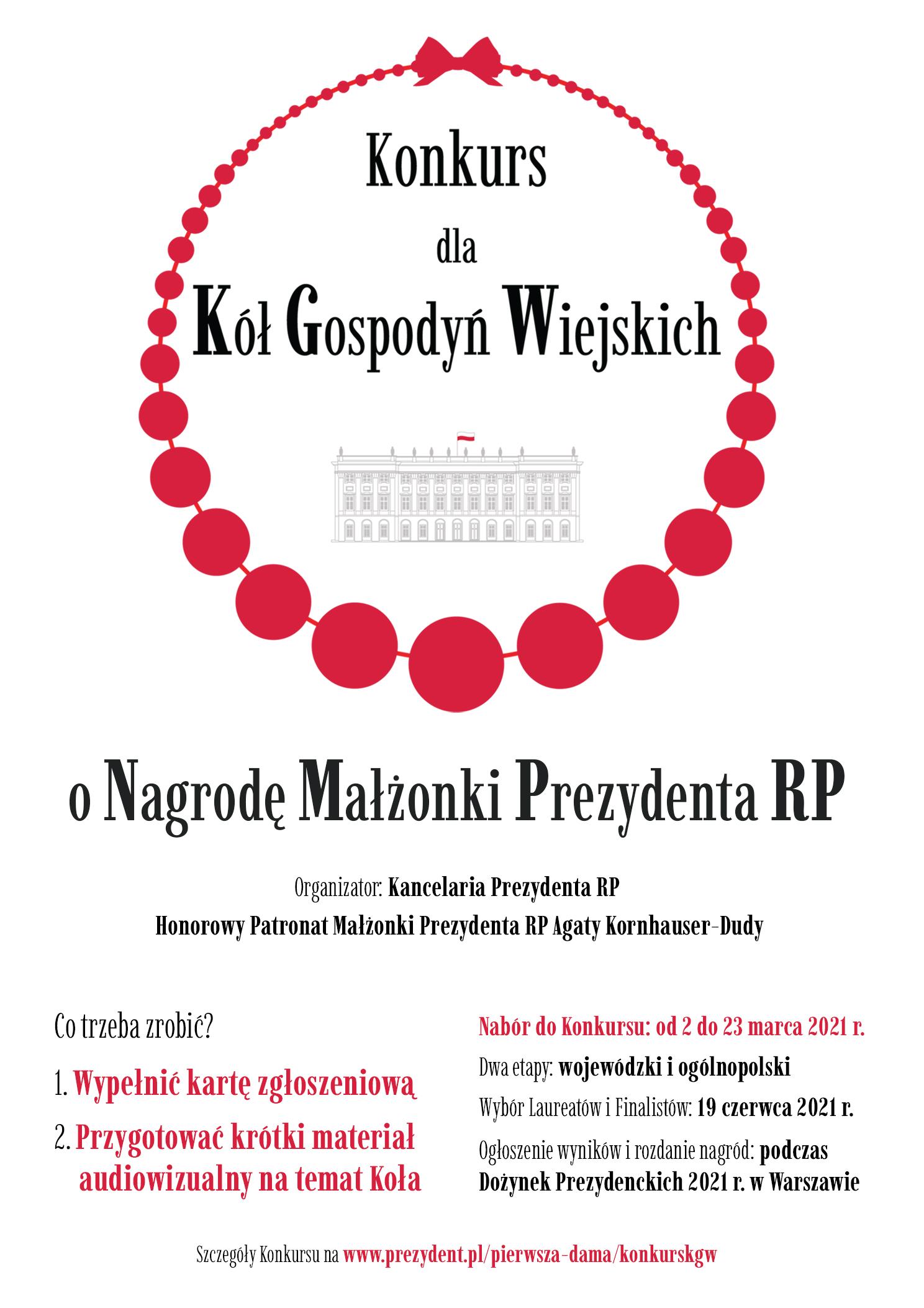plakat informacyjny o konkursie dla kół gospodyń wiejskich