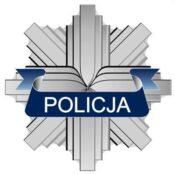 """logo policji - gwiazda z napisem """"policja"""""""