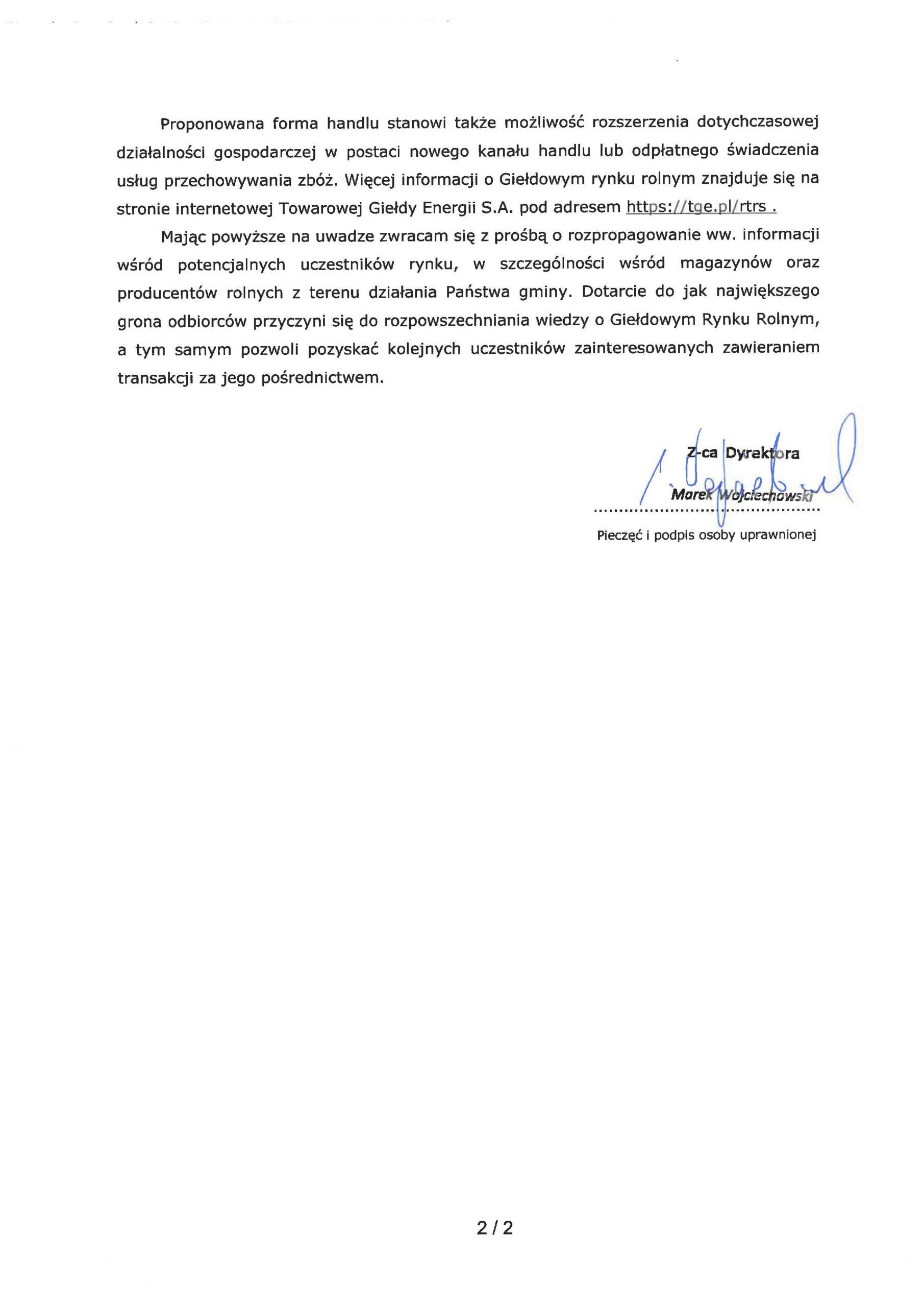 podpis i pieczątka, oraz proponowana forma handlu stanowi takze mażliwość rozszerzenia dotychczasowej działalności gospodarczej