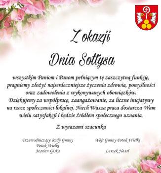 życzenia z okazji dnia sołtysa od gminy potok wielki