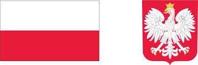 Obraz przedstawia flagę oraz godło Polski